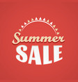 summer sale lettering design template with sun vector image