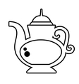 teapot beverage isolated icon vector image