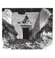 tomb of atreus the treasury of atreus vintage vector image vector image