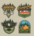 vintage outdoor recreation colorful logos vector image vector image