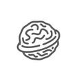 walnut line icon vector image vector image