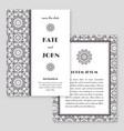 wedding invitation greeting card with mandala vector image vector image