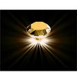 Yellow diamond vector image vector image