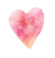 Watercolor painted pink hear element for vector image
