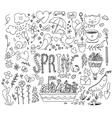 Spring graphics set Hand drawn vector image