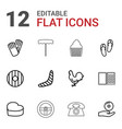 12 icon icons vector image vector image