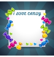 Abstract background with colorful candy stickers vector image vector image
