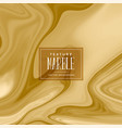 abstract golden liquid marble texture vector image vector image