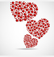 abstract hearts red circles valentines day vector image vector image