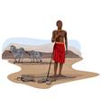 Africa Wildlife Culture vector image vector image