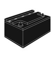 battery car single icon in black style for design vector image vector image