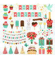 big set of party icons vector image vector image