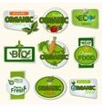 Bio Organic Life Badges vector image vector image