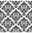 Black and white arabesque seamless pattern design vector image vector image