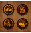 Bottle cap Design Beer labels vector image vector image