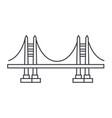bridge line icon sign on vector image