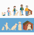 child growth dog growing and aging concept vector image vector image