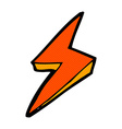 comic cartoon lightning bolt symbol vector image vector image