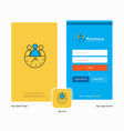company team on time splash screen and login page vector image vector image