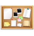 Cork Board With Papers vector image vector image