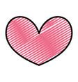 doodle nice heart shape love symbol vector image