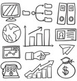doodle of element business set vector image