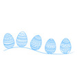 easter holiday drawing eggs for greeting card vector image vector image