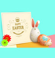 easter multicolor composition with eggs with bunny vector image vector image