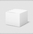 empty white box cardboard cubic cosmetic box vector image vector image