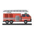 firetruck vector image vector image