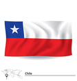 Flag of Chile vector image vector image