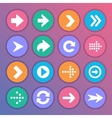 Flat and round arrow icons vector image vector image