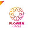 flower logo circle abstract design template tulip vector image vector image
