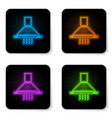 glowing neon kitchen extractor fan icon isolated vector image vector image