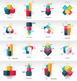 graph design 3d info graphic template vector image