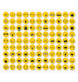Great set 99 yellow emotions insulated with vector image vector image