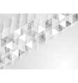 Grey geometric polygonal pixelated background vector image vector image
