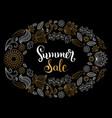 handwritten summer sale in vector image vector image