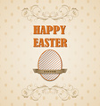 Happy Easter retro card vector image vector image