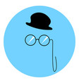 hat and glasses on white background vector image vector image