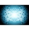 Hi-tech geometric blue background vector image vector image