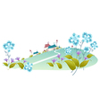 House green landscape vector image vector image