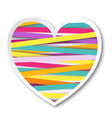 isolated multicolor heart vector image vector image