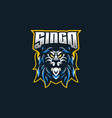lion esport gaming mascot logo template vector image vector image
