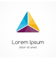 Logo template Modern abstract triangle vector image vector image