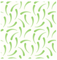 Long green leaves as a seamless pattern vector image vector image