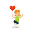 lovely little girl with balloon in the shape of vector image vector image