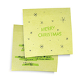 merry christmas paper vector image vector image