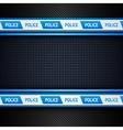 Metallic perforated sheet police background vector image