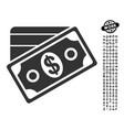 money icon with people bonus vector image